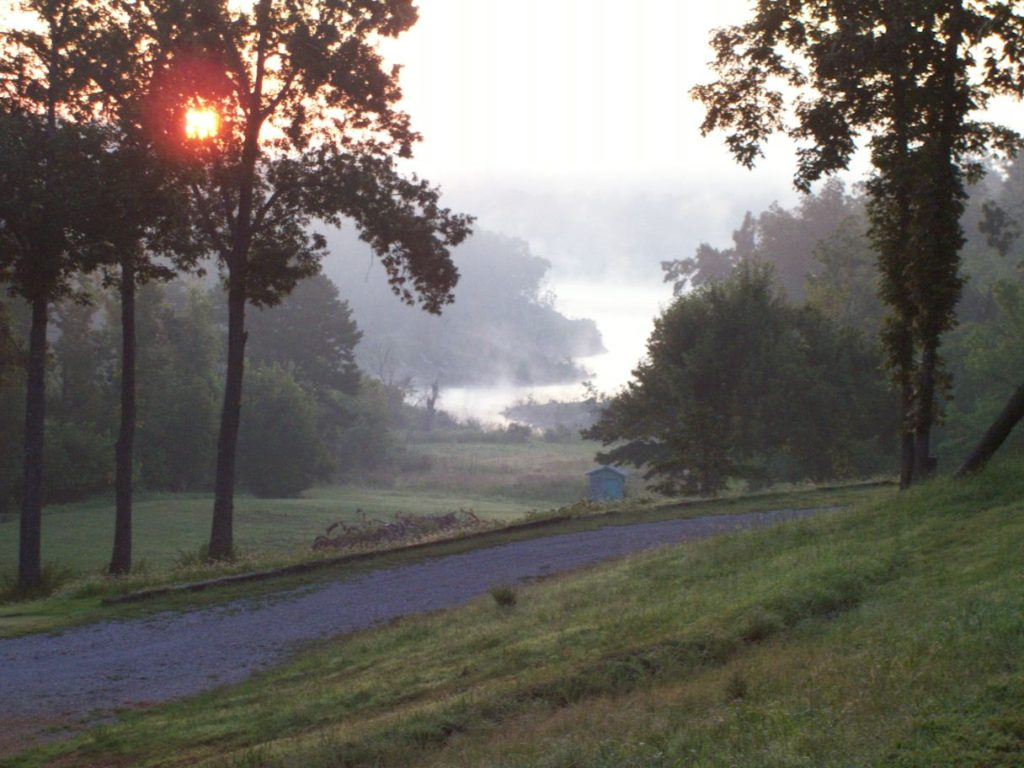 Summer morning sunrise.